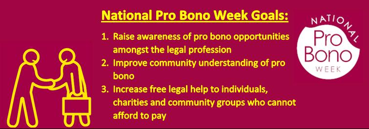 National Pro Bono Week Goals