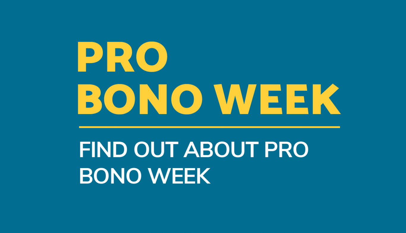 Find out about Pro Bono Week